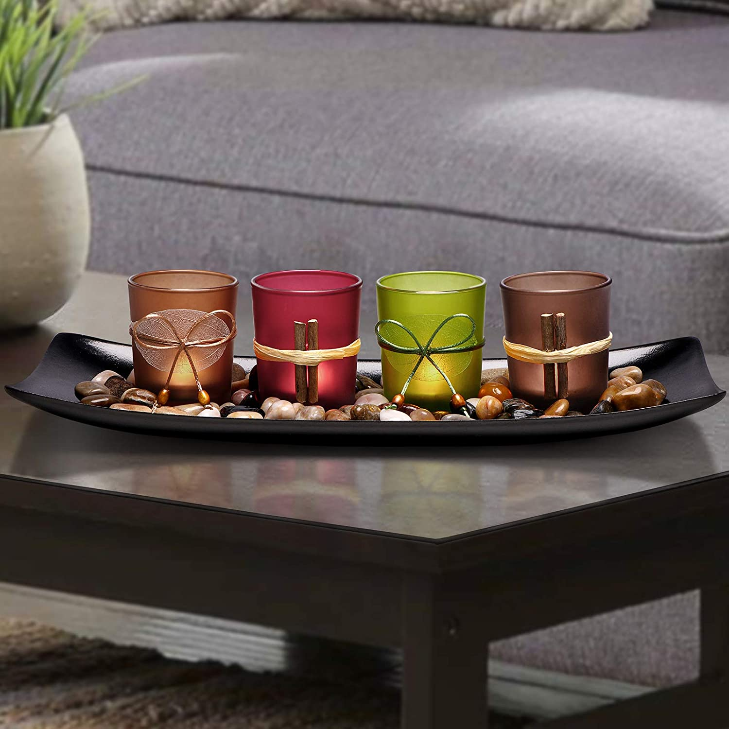 Lamorgift Home Decor Candle Holders Set For Bathroom Decorations Candle Holder Centerpieces For Dining Room Table Living Room Decor Coffee Fox River Deals